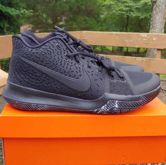 factory price ce8f7 027cb Nike Kyrie 3 Triple Black Marble basketball shoes